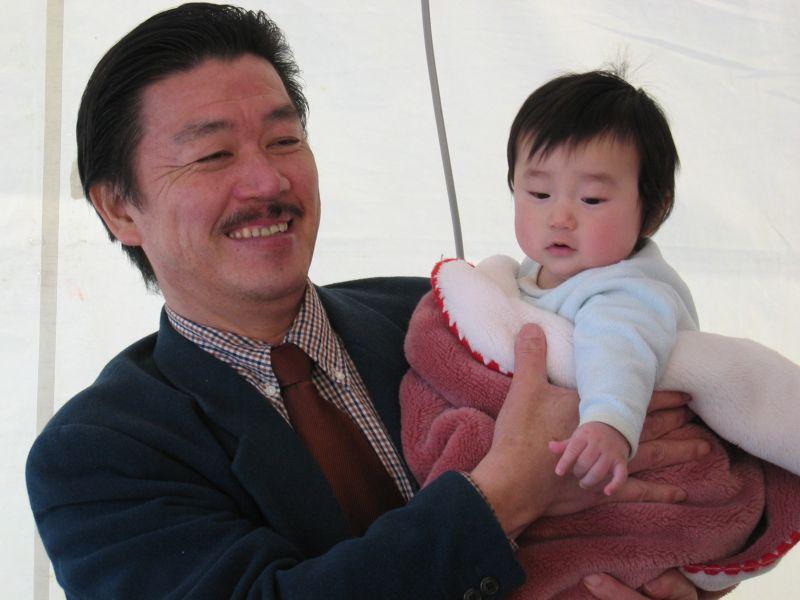 台長と赤ちゃん