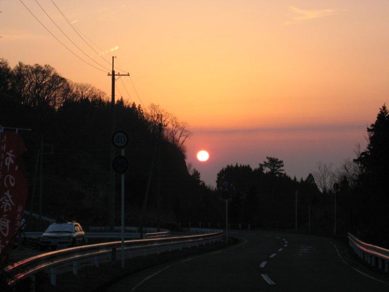 鶴姫公園の夕日