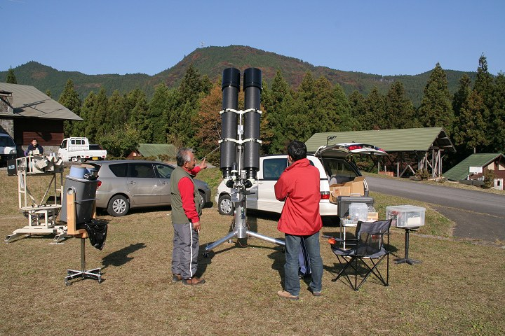 25cm(?)双眼望遠鏡1