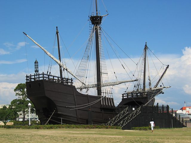 展示された帆船
