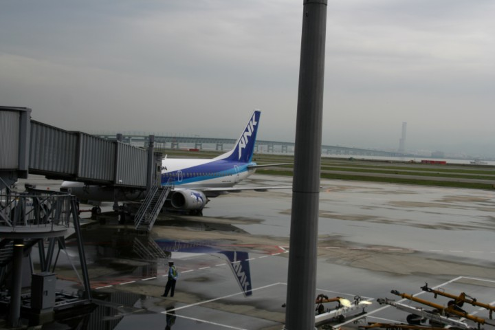 行きに乗った旅客機
