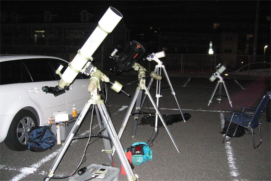 望遠鏡の群