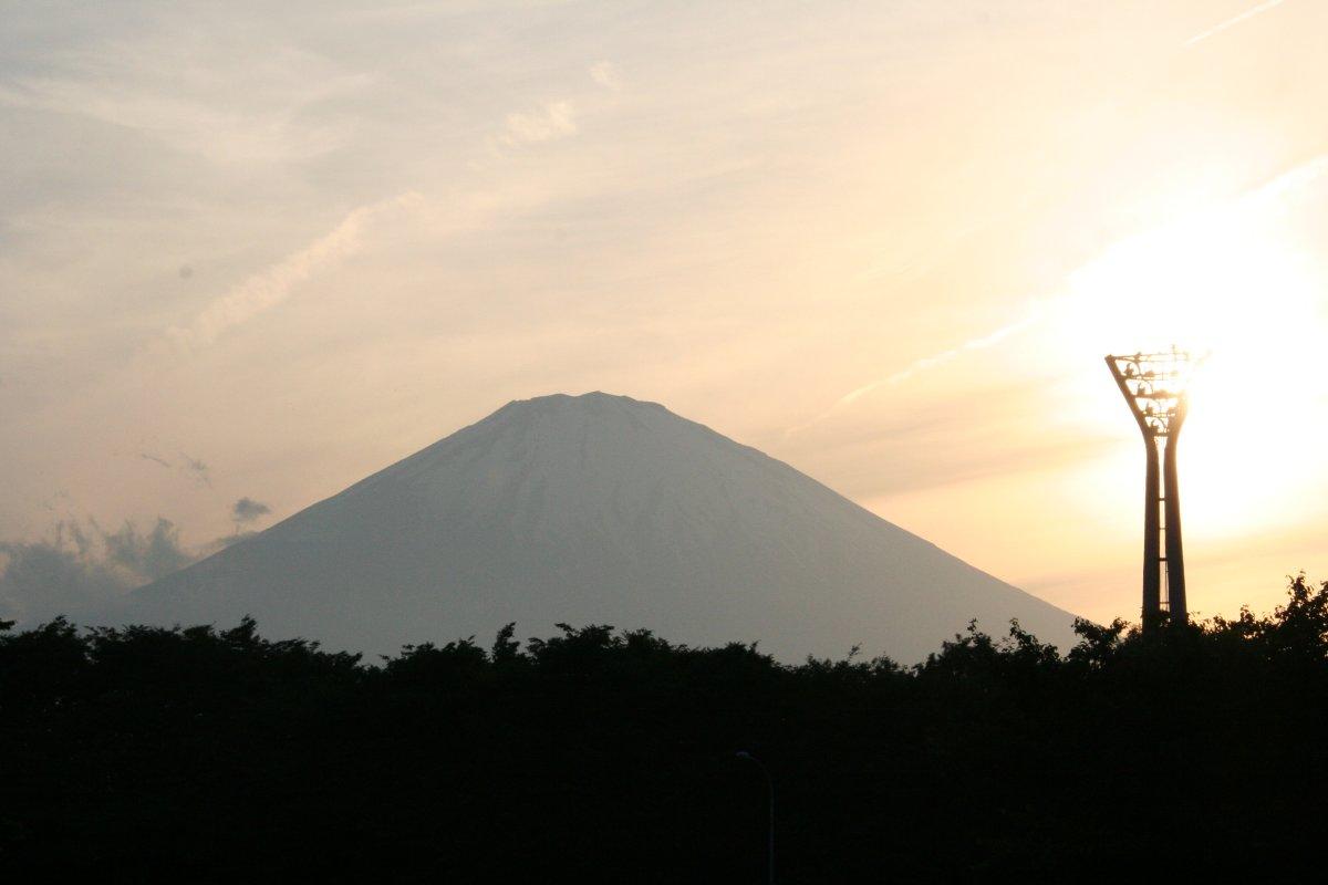 足柄インターから見た富士