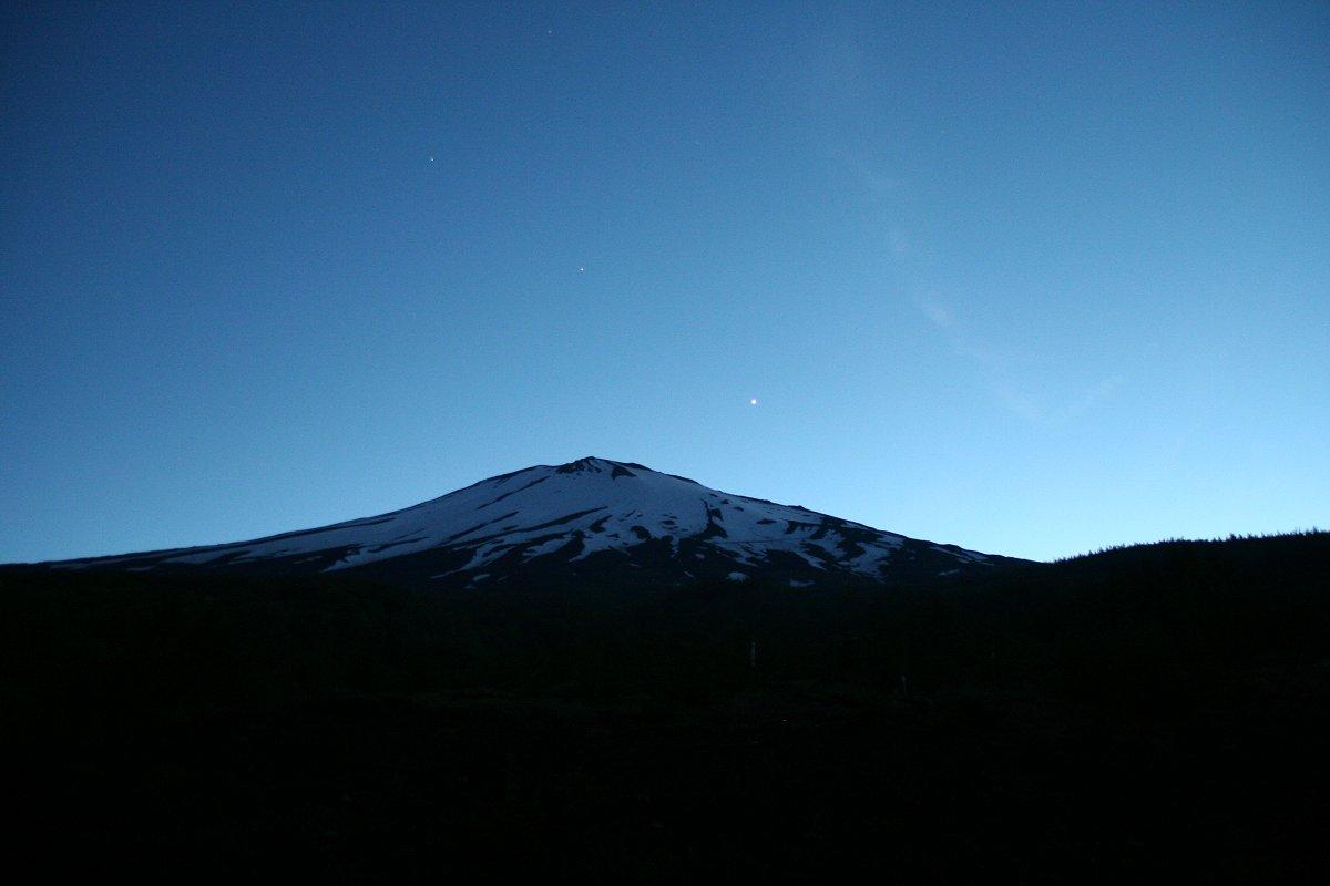 富士と金星・土星・レグルス