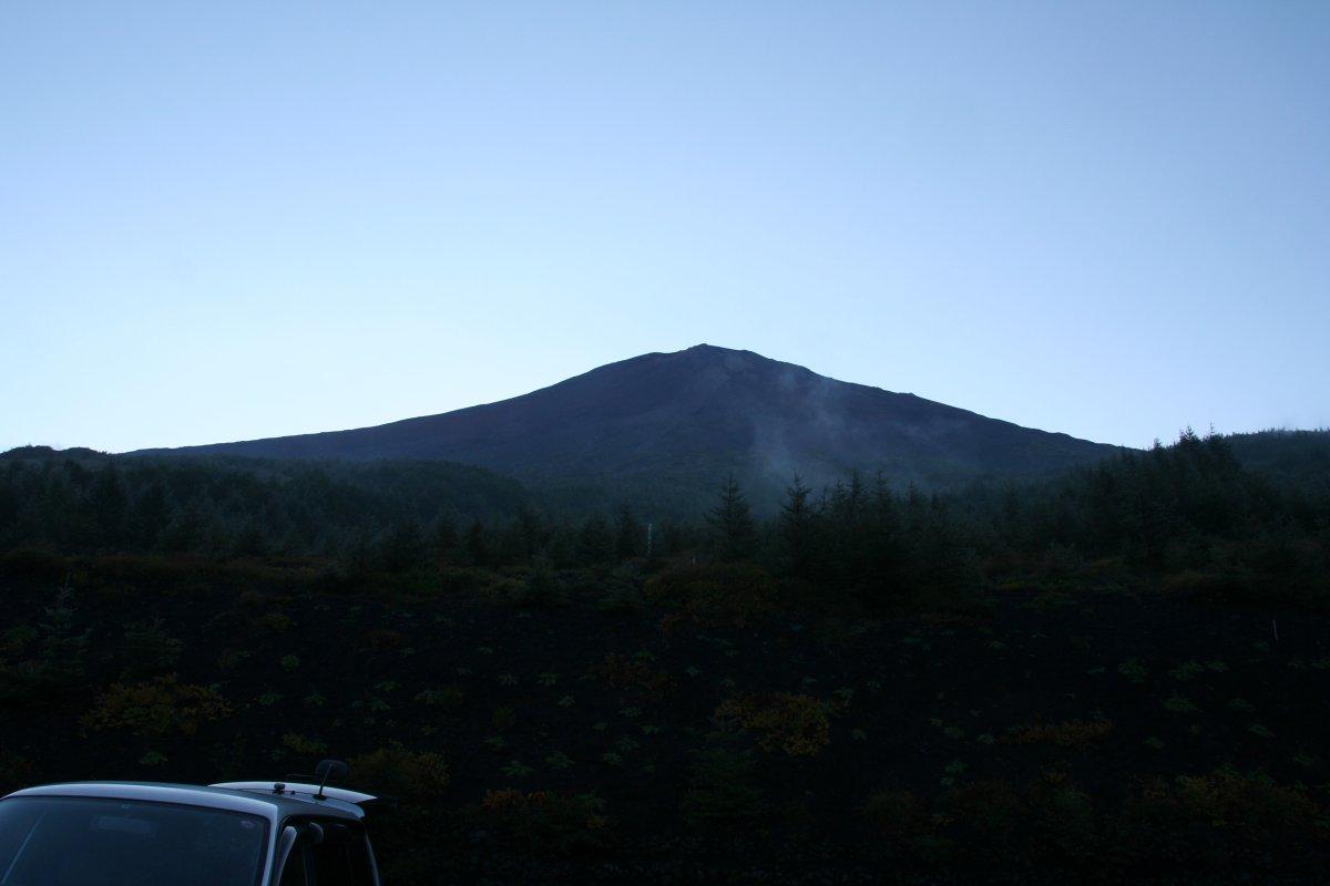 クリアになっていく富士山頂