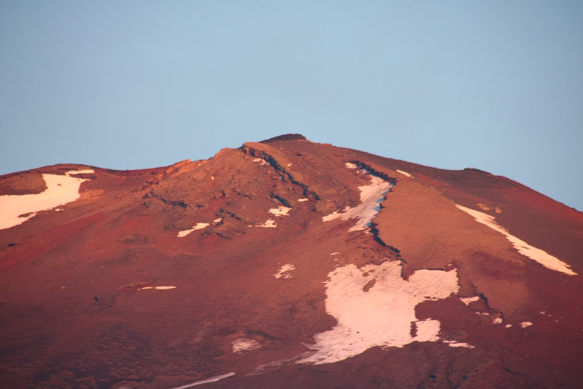 山頂のアップ