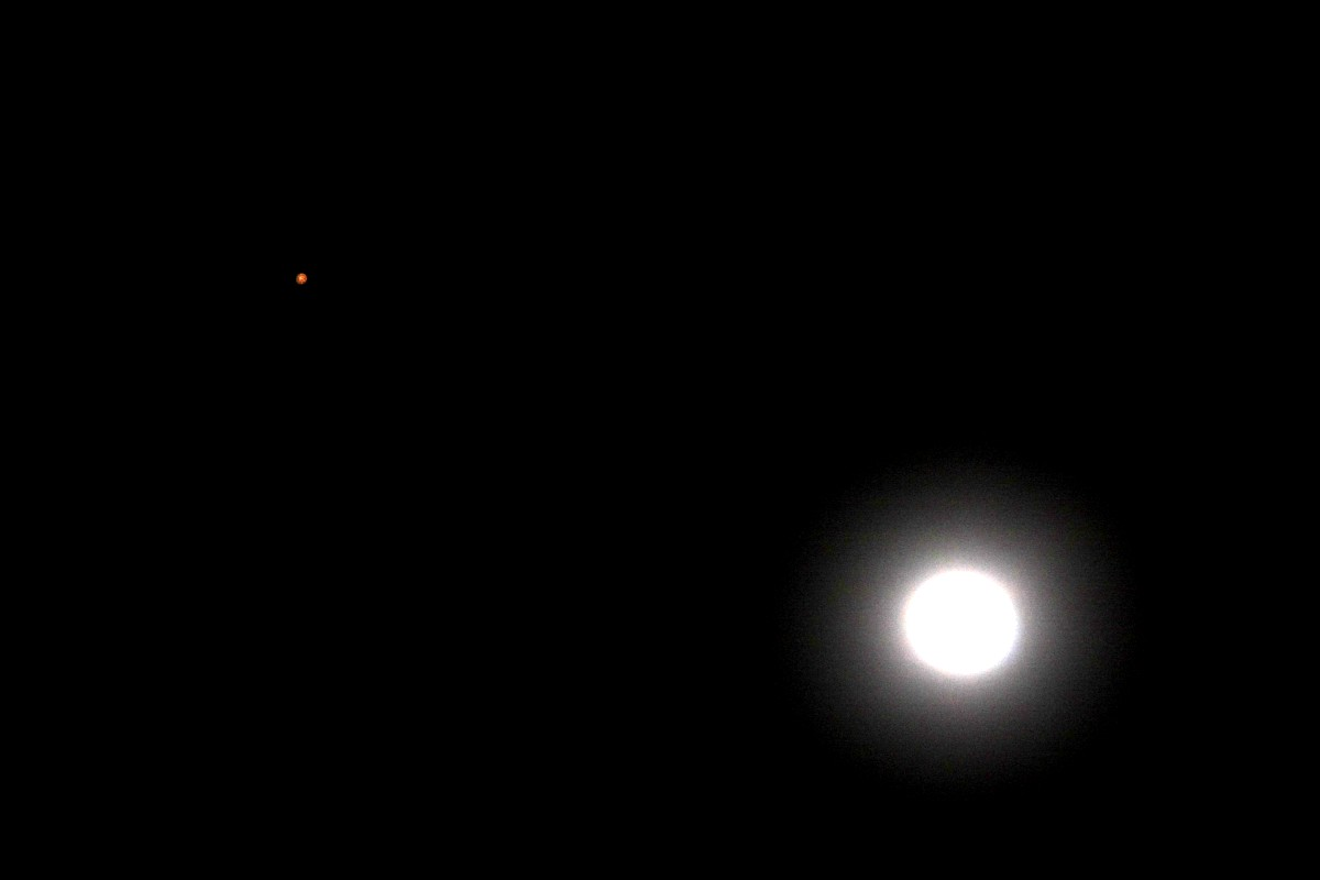 Blue Moon & Red Star(Mars)