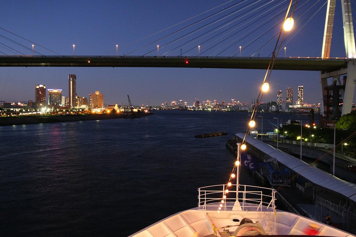 天保山と大阪の夜景