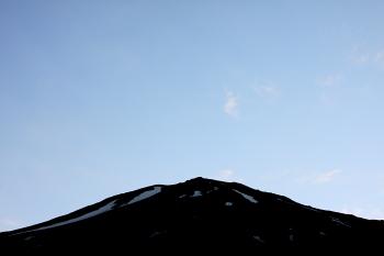 富士山頂と金星